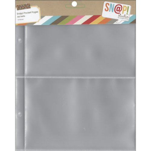 Simple Stories 6x8-inch Page Protectors with (2) 4x6-inch Divided Pockets, 10-Pack Divided Pocket