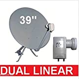 "GEOSATpro 36""/90cm FTA Satellite Dish and .5dB NR SL1PLL Single Standard LNBF"