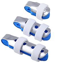 Finger Splints: 3-Size Pack Made for Finger Knuckle Immobilization of Adults and Children with Soft Foam Interior Loop Straps and Protective Ventilation Holes
