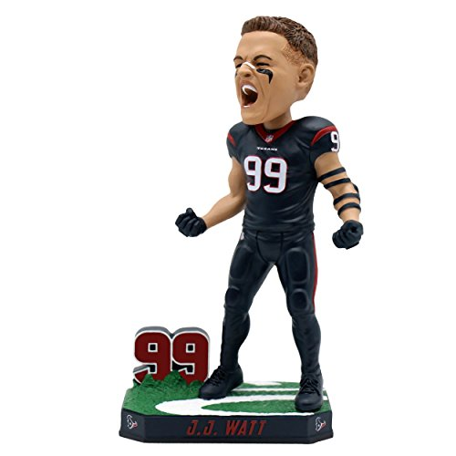 Forever Collectibles JJ Watt Houston Texans Special Edition Color Rush Bobblehead NFL (Texans Head Houston Bobble)