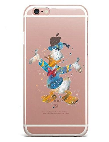 iPhone 7 Case, KOLAG CASES Disney Watercolor Clear Bumper TPU Soft Case Rubber Silicone Skin Cover for iPhone 7 (Donald Duck) - Donald Duck Cell Phone Case