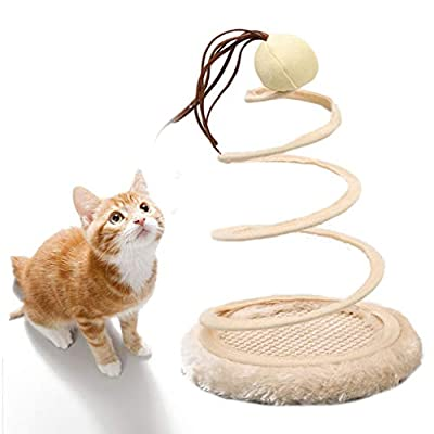 Toys for cats Andiker Interactive Cat Toy, Cat Plush Toy with Spiral Spring... [tag]