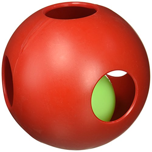 """Teaser Ball Size: 6.5"""" H x 6"""" W x 6.25"""" D, Color: Red"""
