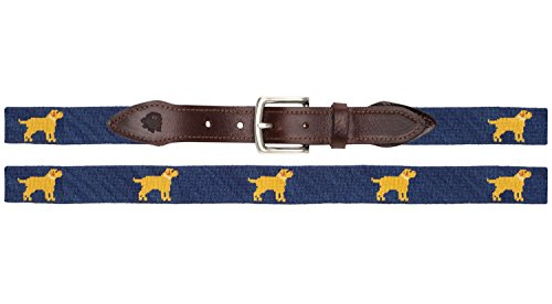 Golden Retriever Needlepoint Belt - (Golden Retriever Belt)
