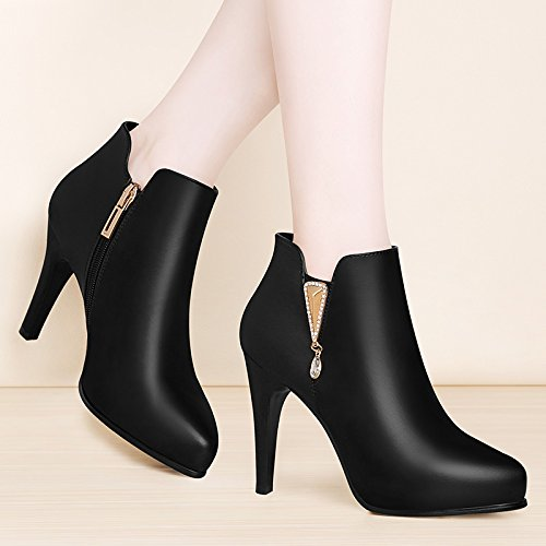 KHSKX-Rhinestone Martin Boots Pointed Fine Martin Boots Comfortable Short Boots Women'S Shoes Thirty-five YSJls5ozb