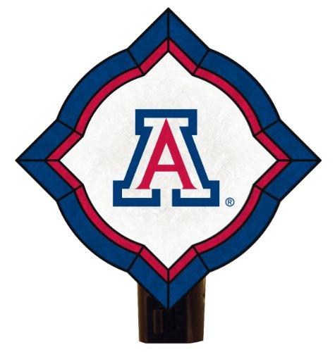 NCAA Arizona Wildcats Vintage Art Glass Nightlight (Wildcats Glass Night Light)