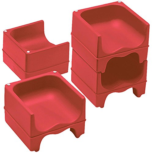 Cambro Dual Height Booster Seat, Hot Red, 4 Pack (200BC158-CS) Category: Booster Seats by Cambro