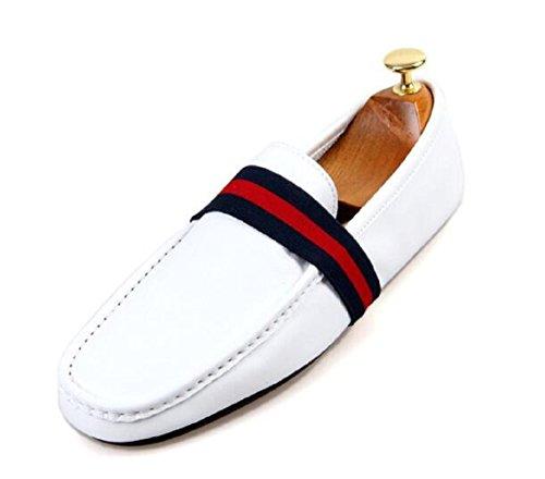 Happyshop (tm) Lederen Casual Schoenen Instappertje Loafer Mode Heren Bootschoenen Wit