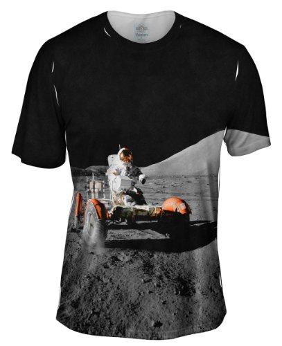 Yizzam- NASA Apollo 17 Lunar Roving Vehicle -TShirt- Mens Shirt-Large ()