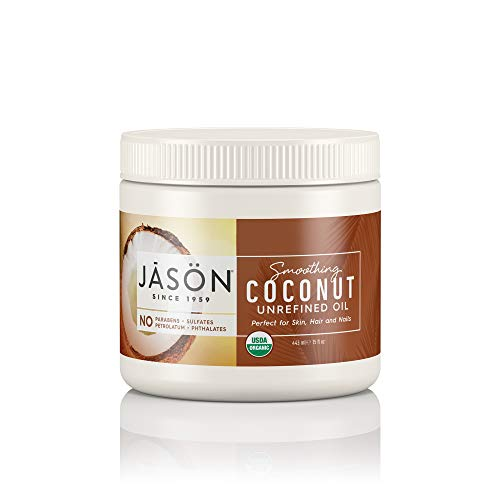 (JASON Smoothing Coconut Unrefined Oil (Certified USDA Organic), 15 Ounce Bottle)