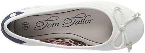 TOM TAILOR 4872001, Bailarinas con Punta Cerrada Para Niñas Weiß (White)