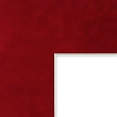 Craig Frames B9135 16x22 Inch Mat Single Opening For 11x17 Inch Image Blaze Suede With White Core