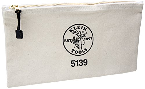 Klein Tools Canvas Zipper Bag (Klein Tools 5139 12-1/2-Inch Canvas Zipper)