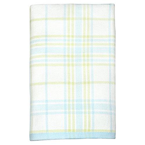 Peri Home Plaid Hand Towel, 100Percent Cotton, Aqua, 15