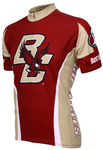 NCAA Boston College Cycling Jersey,X-Large (maroon/gold) (Boston College Cycling Jersey)