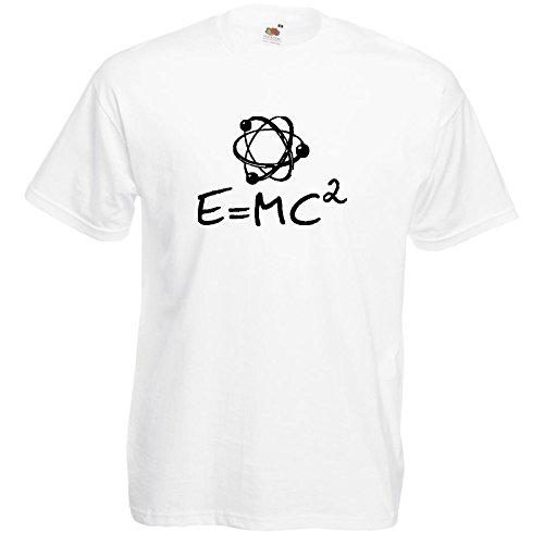Atom Fun T-Shirt Weiß / Druck Schwarz