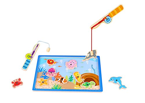 (Toddle Toy Fishing Game - Wooden Magnetic Fishing Game for Kids and The Ideal Best Fun Colorful Fishing Game for Toddlers)