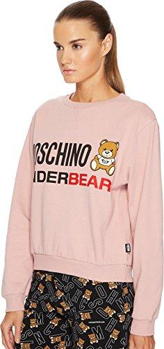 MOSCHINO Women's Cotton Fleece Long Sleeve Sweatshirt Pink Small by MOSCHINO (Image #1)