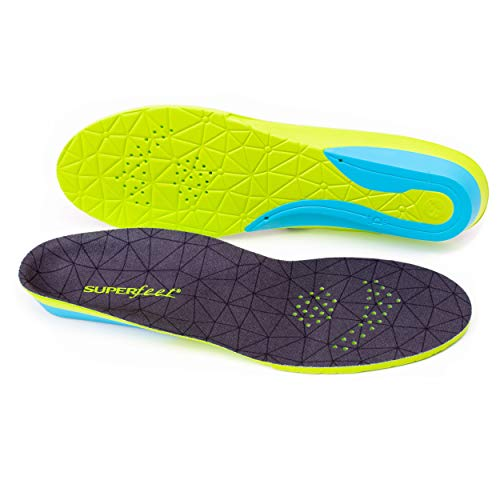 Superfeet FLEXmax, Comfort Insoles for Roomy Athletic Shoe Maximum Cushion and Support, Unisex, Emerald, Small/C: 6.5-8 Wmns/5.5-7 ()
