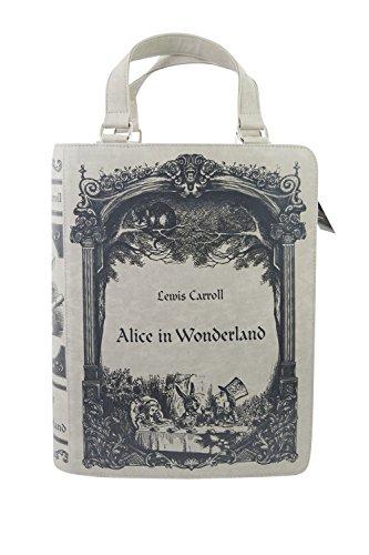 - Restyle Gothic Lewis Carroll Alice In Wonderland Book Shape Handbag