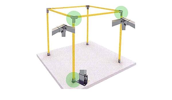 KIT Estructura Galva - Carpa 1 Agua - 2x2x2,5m (h): Amazon ...