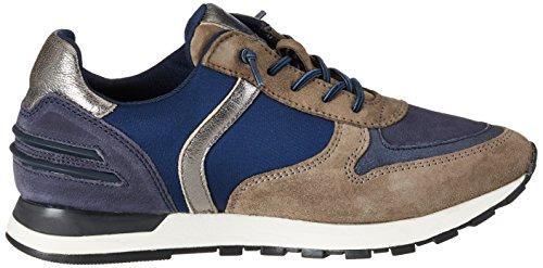 Bugatti Damen 422285023449 Sneaker Grau (grey/dark blue)