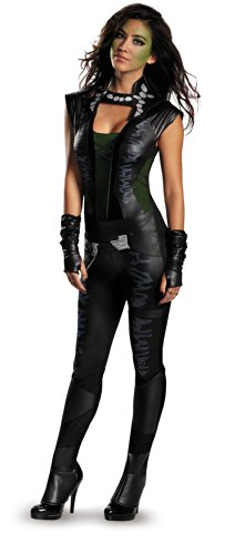 Disguise Women's Marvel Guardians Of The Galaxy Gamora Deluxe Costume, Black/Green, Small/4-6]()