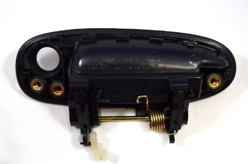 Passenger Side Front Textured Black Outside Exterior Outer Door Handle PT Auto Warehouse TO-3149A-FR