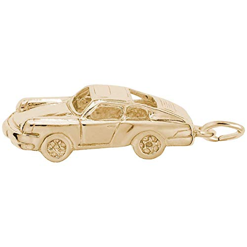 Rembrandt Charms Sports Car Charm, Gold Plated Silver