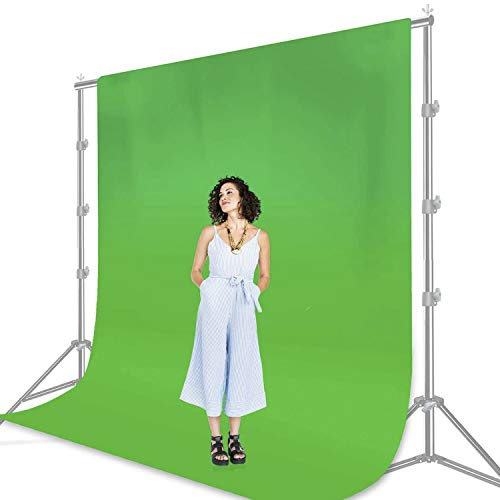 Julius Studio 6 x 9 ft. Photo Studio Chromakey Background Muslin Backdrop Bundle Kit, Blue, Green, Premium Quality Fabric Material, Wrinkle Resistant, Photo Video Studio, JSAG228