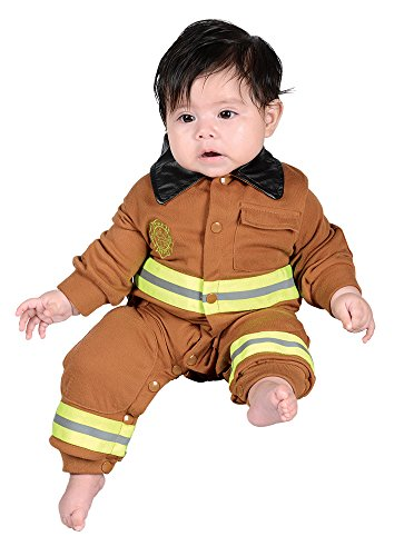 Jr. Fire Fighter Suit, size 6 to 12 Months (Firefighter Tan Suit)