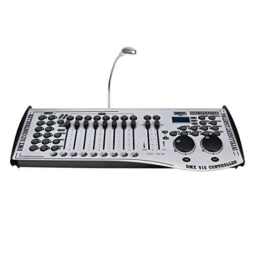 Goetland 192 Universal Channels DMX 512 Controller Fog Machine LED DJ Lights Stage Lighting Moving Heads Disco, White