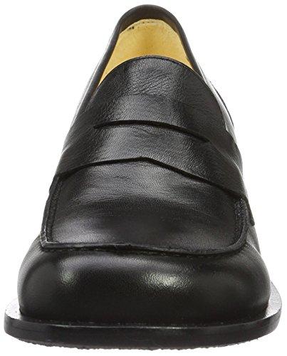 John W. Shoes 1055-17, Zapatos Mujer Negro (Negro)