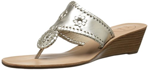 Women's Wedge Rogers Mid Sandal Stacked Platinum Jacks Jack T5wvq45