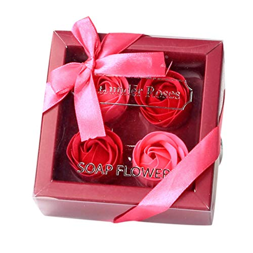 (LUXISDE Dateunder Roses Soap Flower Soap Gift Box Valentine's or Mother 's Day Gifts)