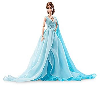 Barbie Fashion Model Collection Blue Chiffon Ball Gown Barbie Doll 4