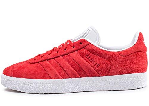 adidas Herren Gazelle Stitch and Turn Gymnastikschuhe Rot (Collegiate Red/collegiate Red/ftwr White)