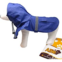 Alfie Pet by Petoga Couture - Pluvia Rainy Days Waterproof Raincoat (for Dogs and Cats) - Color Navy, Size: L