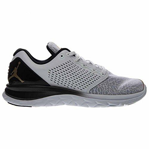 Nike Menns Jordan Trener St Prem Hvit / Metallic Gull-svart