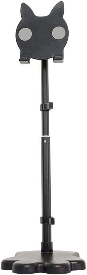 Color : Black Adjustable Length Multi-Function Desktop Mobile Phone Holder Miyabitors Retractable Mobile Phone Holder Creative Shape Aluminum Alloy Mobile Phone Holder