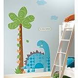 RoomMates RMK2024SLM Babysaurus Peel and Stick Growth Chart Wall Decals