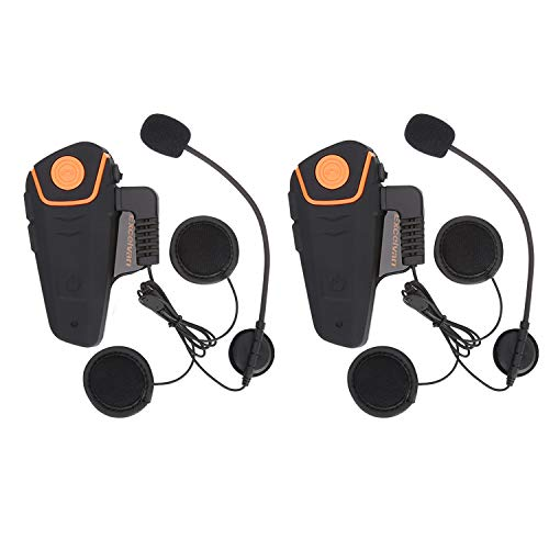 Excelvan BT-S2 Waterproof Motorcycle Intercom Helmet Bluetooth Headset...
