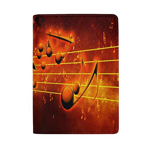 Passport Holder Musical Passport Cover Case Wallet Card Storage Organizer for Men Women Kids