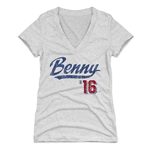 500 LEVEL Andrew Benintendi Women's V-Neck Shirt Medium Tri Ash - Boston Baseball Women's Apparel - Andrew Benintendi Players Weekend B