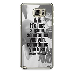 Manny Pacquiao Samsung Note 5 Transparent Edge Case - Quote Its just a game