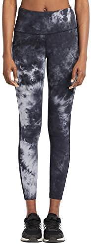 BALEAF Womens Fleece Lined High Waist Leggings Yoga Pocketed Tummy Control Pants Space Dye Black Size S