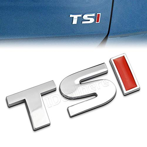 (New 3D Metal TSI Emblem Car Body Side Rear Badge Decal Sticker for V-W T-iguan P-olo G-olf 4 5 6 MK-6 Car-Styling)
