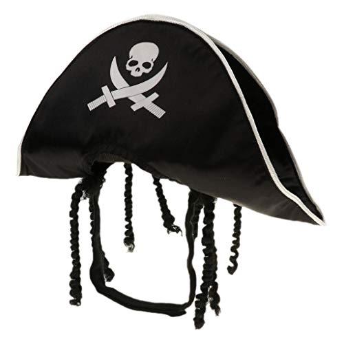 Homyl Halloween Small Dog Captain Pirate Cat Hat Pet Dog Puppy Kitty Cosplay Fun ()