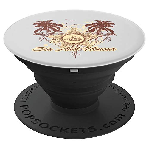 Graphic 365 Vintage Sea And Honour Top Distress Gift Unisex PopSockets Grip and Stand for Phones and Tablets (Honour Mobiles)