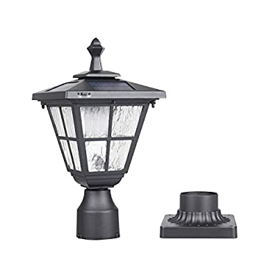 Kemeco ST4325Q Post Solar Light Cast Aluminum LED Lamp Fixture with 3-Inch Fitter Base for Outdoor Garden Post Pole Mount Landscape Yard